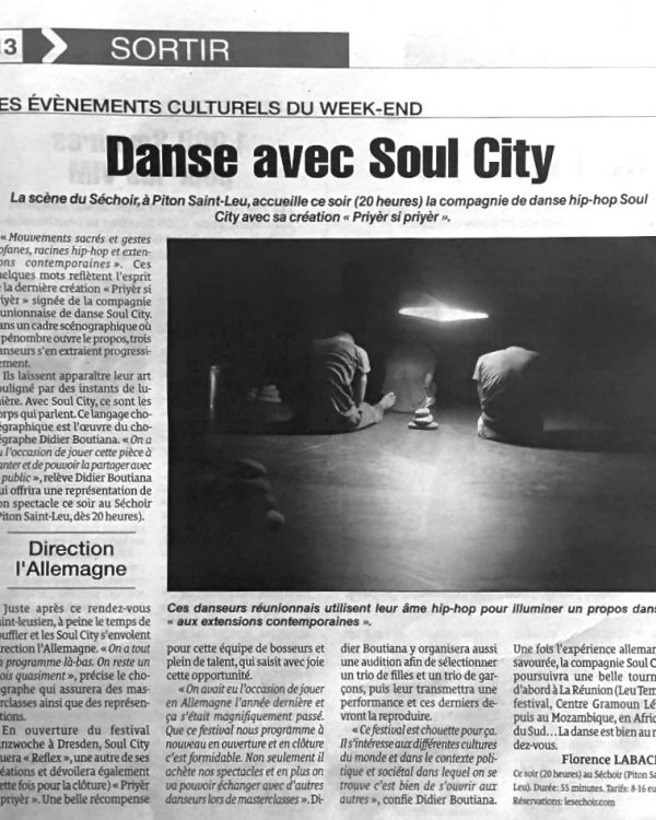 Le Quotidien 01-04-2016 - Soul City