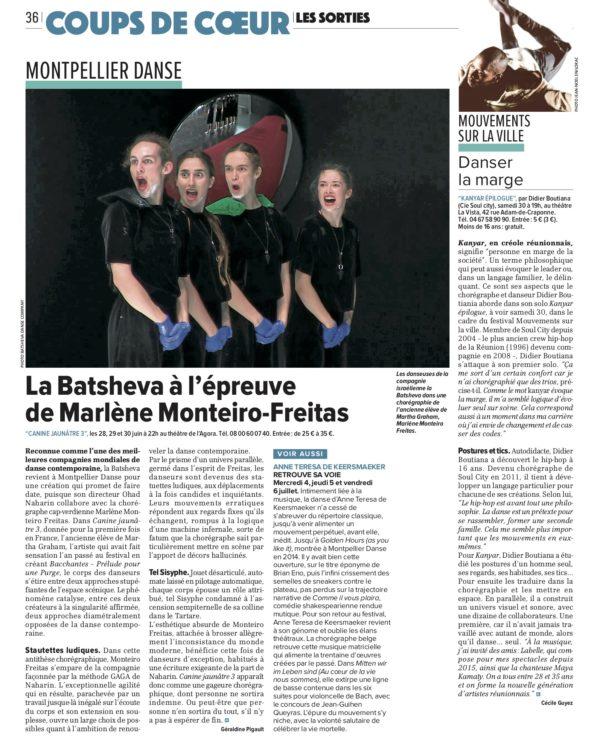 Kanyar épilogue. La Gazette de Montpellier